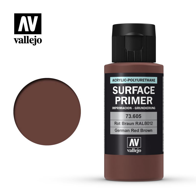 German Red Brown (RAL 8012): Surface Primer - Acrylic Polyurethane