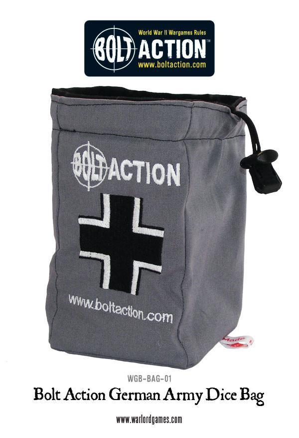 Bolt Action German Army Dice Bag (Grey)