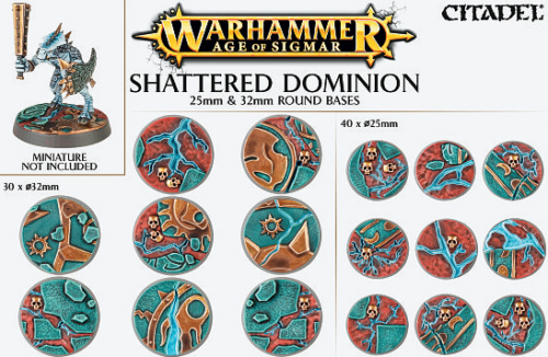 Age of Sigmar: Shattered Dominion 25mm and 32mm round bases
