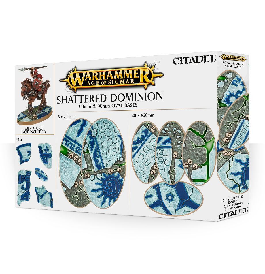Age of Sigmar: Shattered Dominion: 60 and 90mm Oval