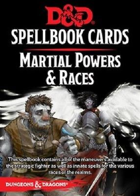 D&D Martial Powers and Races Spellbook Cards
