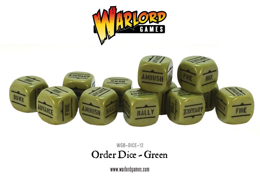 Bolt Action - Order Dice: Green (12)