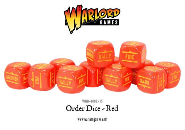 Bolt Action - Order Dice: Red (12)