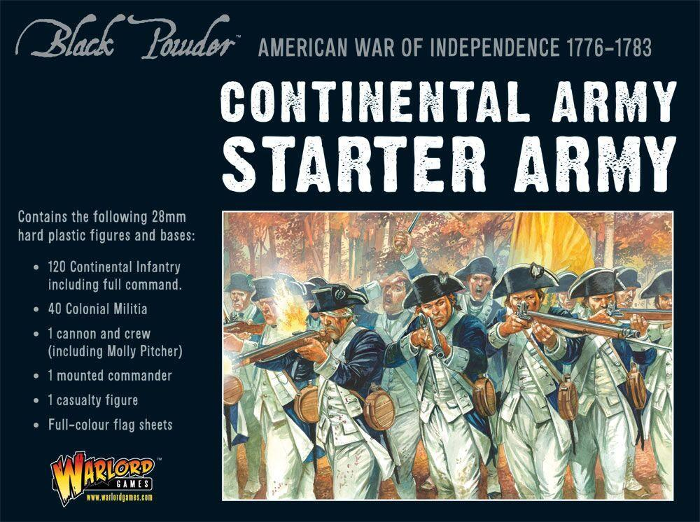 Continental Army Starter Set: Black Powder American War of Independence
