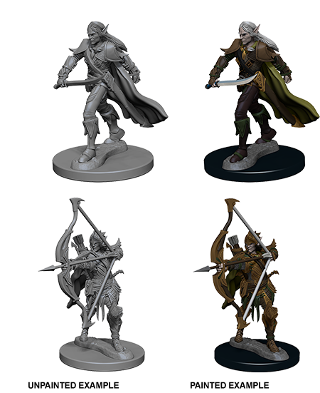 Elf Male Fighter: Deep Cuts Unpainted Miniatures