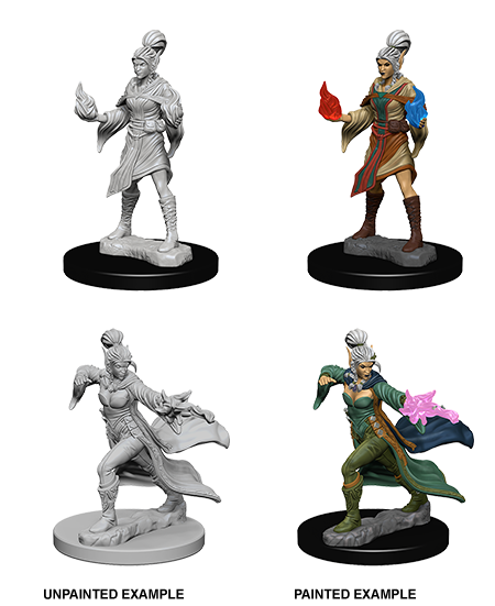 Elf Female Sorcerer: Deep Cuts Unpainted Miniatures