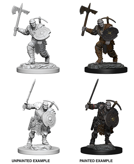 Earth Genasi Male Fighter: Nolzur's Marvelous Unpainted Miniatures