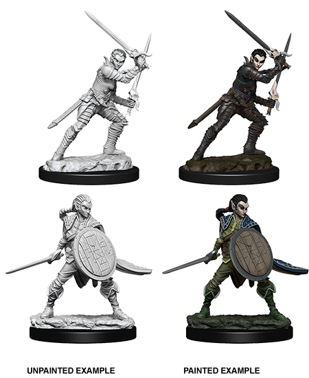 Female Elf Fighter: Deep Cuts Unpainted Miniatures