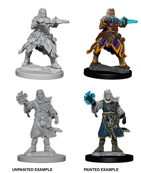 Male Human Wizard: Deep Cuts Unpainted Miniatures