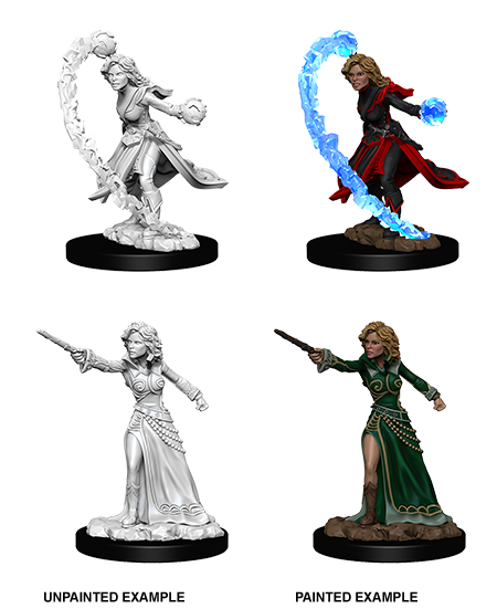 Female Human Wizard: Deep Cuts Unpainted Miniatures