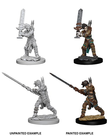 Female Human Barbarian: Deep Cut's Unpainted Miniatures - D&D Dungeons & Dragons