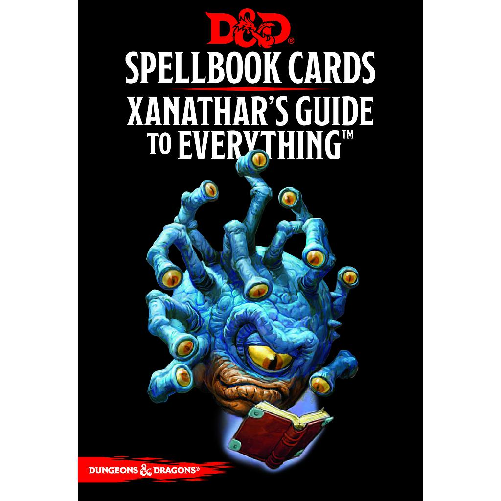 D&D Xanathar's Guide Spellbook cards